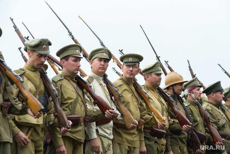 Реконструкция боя первой мировой войны в Шадринске