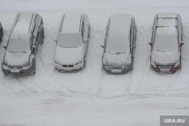 Челябинск снег мороз