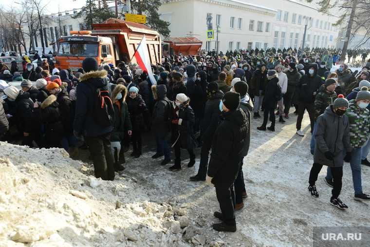 митинги за Навального Челябинск 31 января